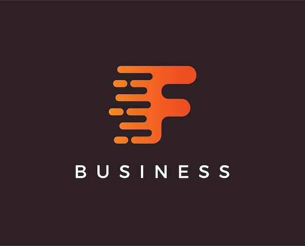 Modèle de logo lettre f minimale