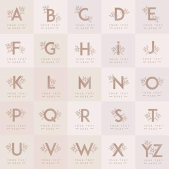 Modèle de logo lettre floral féminin