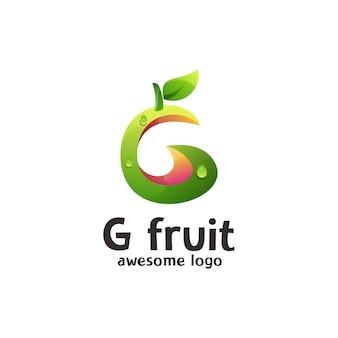 Modèle de logo de lettre g