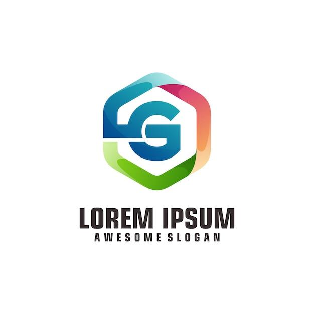 Modèle de logo lettre g