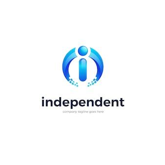 Modèle de logo de la lettre i