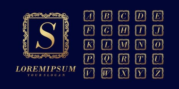 Modèle de logo de lettre initiale élégante de luxe