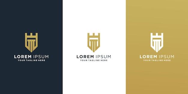 Modèle de logo lettre initiale m