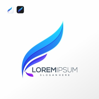 Modèle de logo lettre k plume