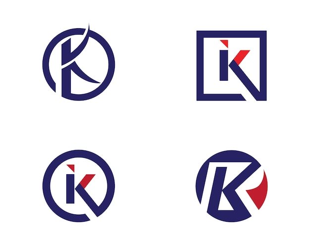 Modèle de logo lettre k