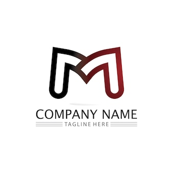 Modèle de logo de lettre m logo de conception d'illustration vectorielle pour l'entreprise et l'identité