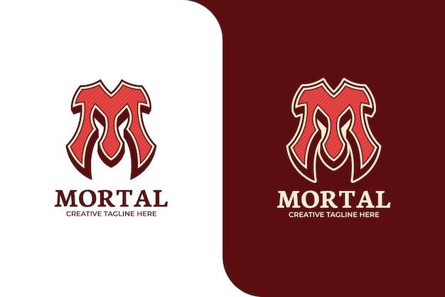 Modèle de logo lettre m rouge