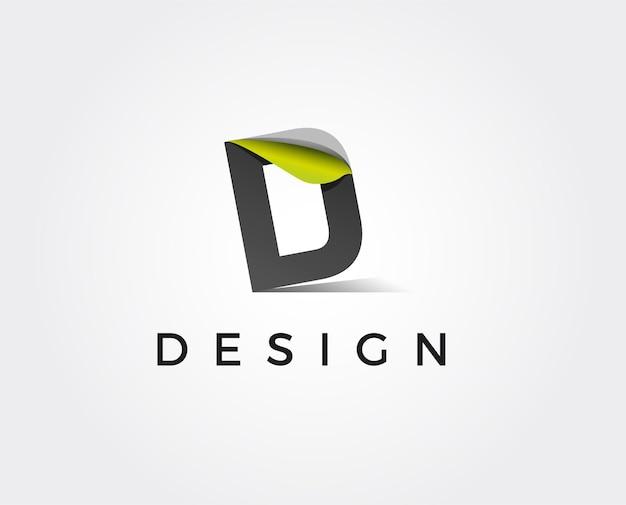 Modèle de logo lettre d minime - illustration vectorielle