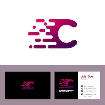 Modèle de logo lettre c, modèle de carte de visite vector illustration design
