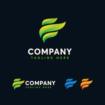 Modèle de logo lettre moderne e