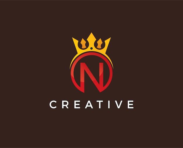 Modèle de logo lettre n minimal