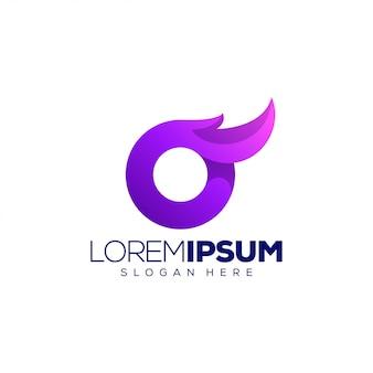 Modèle de logo lettre o