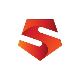 Modèle de logo lettre s bouclier