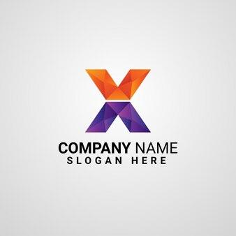 Modèle de logo lettre x