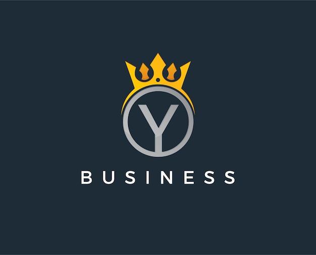 Modèle de logo lettre y minimal
