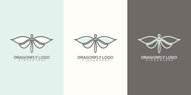 Modèle de logo de libellule