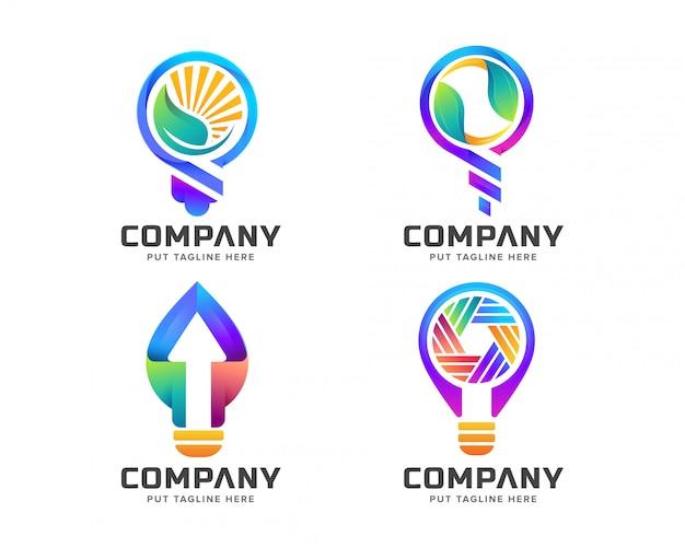 Modèle de logo light bulp