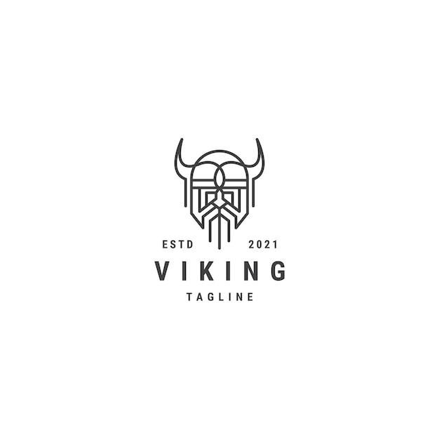 Modèle de logo de ligne viking