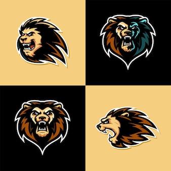 Modèle de logo lion esport