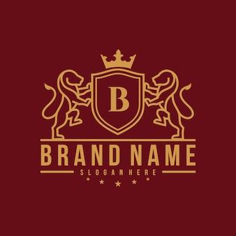Modèle de logo de lion royal