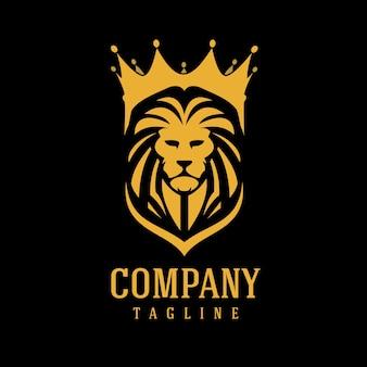 Modèle de logo lion
