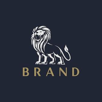 Modèle de logo de lion
