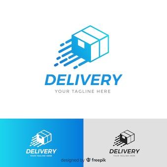 Modèle de logo de livraison avec boîte