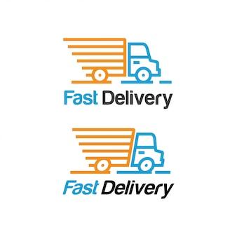 Modèle de logo de livraison rapide