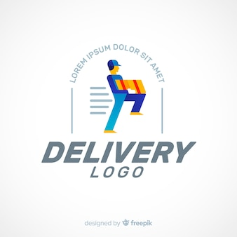 Modèle de logo de livraison
