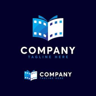 Modèle de logo de livre de film premium