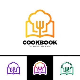 Modèle de logo de livre de recette