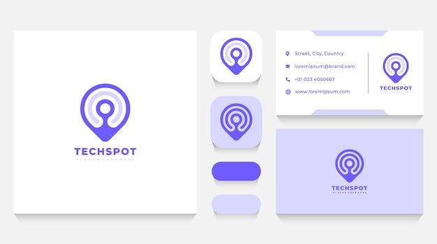 Modèle de logo de localisation et carte de visite