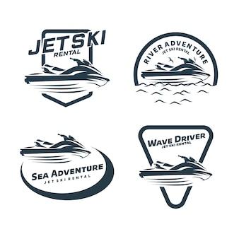 Modèle de logo de location de jet ski