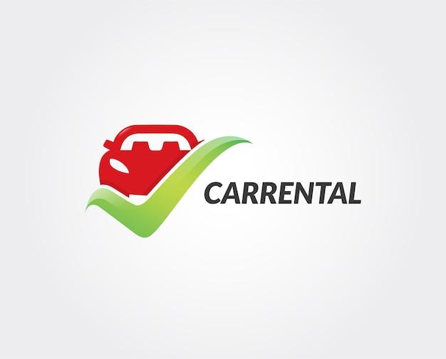 Modèle de logo de location de voiture