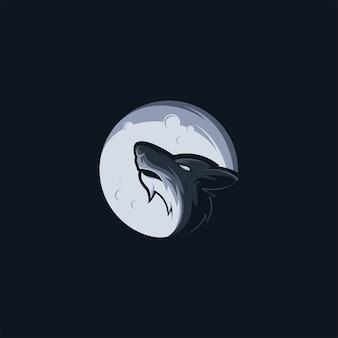 Modèle de logo logo wolf