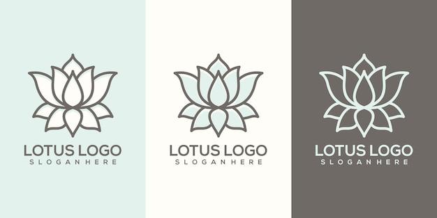 Modèle de logo de lotus abstrait féminin