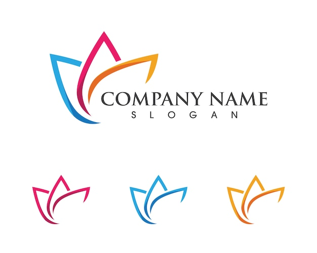 Modèle de logo lotus