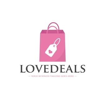 Modèle de logo love deals