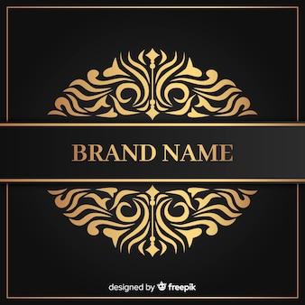 Modèle de logo de luxe élégant doré