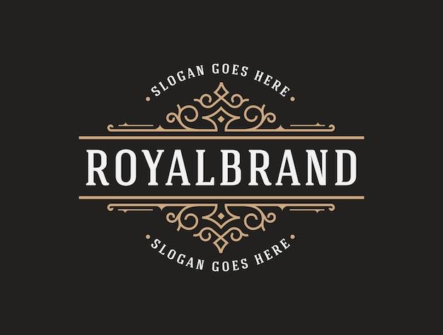 Modèle de logo de luxe élégant