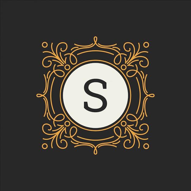 Modèle de logo de luxe pour restaurant