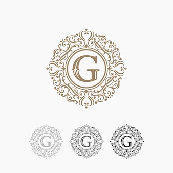 Modèle de logo de luxe stock vector