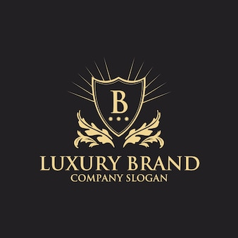 Modèle de logo de luxe