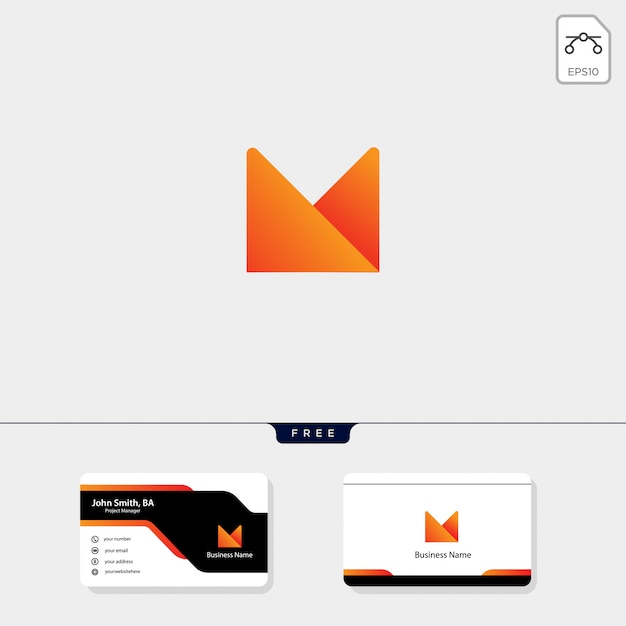 Modèle de logo m minimal