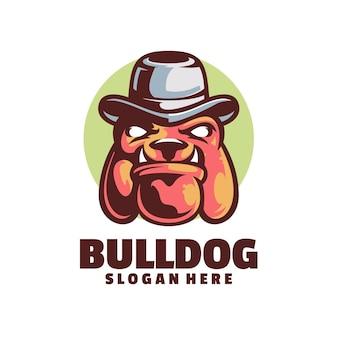 Modèle de logo de mafia bulldog
