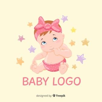 Modèle de logo magasin bébé charmant avec un style moderne