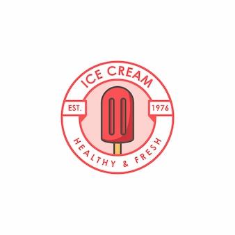 Modèle de logo de magasin de crème glacée