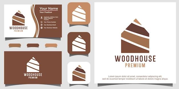 Modèle de logo de maison en bois vector