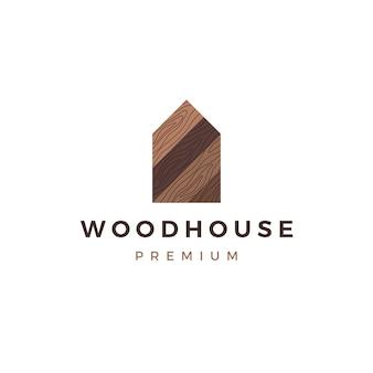 Modèle de logo de maison en bois
