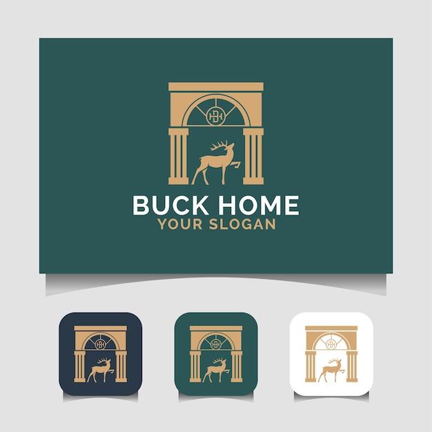 Modèle de logo de maison buck